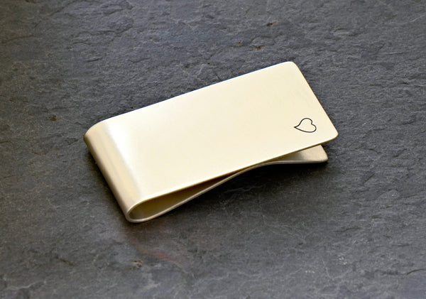 Sterling silver personalized money clip