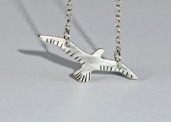 Sterling silver bird necklace a for free spirit