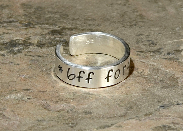 Best Friends Forever Sterling Silver Ring, NiciArt