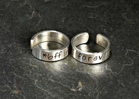Best Friends Forever Sterling Silver Toe Ring Set, NiciArt