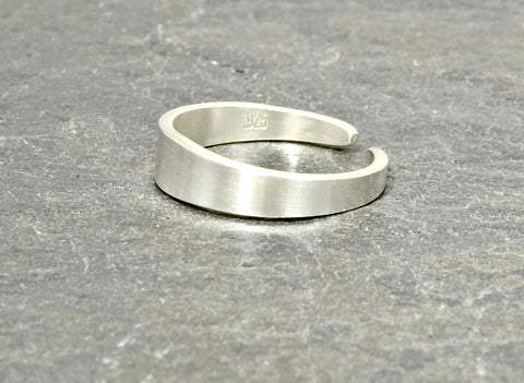 Sterling Silver Tapered Artisan Toe Ring, NiciArt