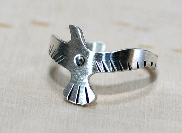 Sterling Silver Seagull Adjustable Toe Finger or Knuckle Ring