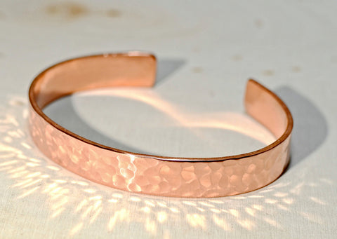 Hammered Copper Cuff Bracelet, NiciArt
