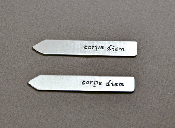 Carpe diem collar stays in aluminum, NiciArt
