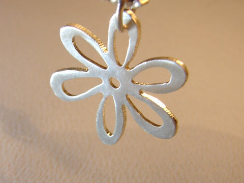 Sterling silver daisy flower necklace, NiciArt