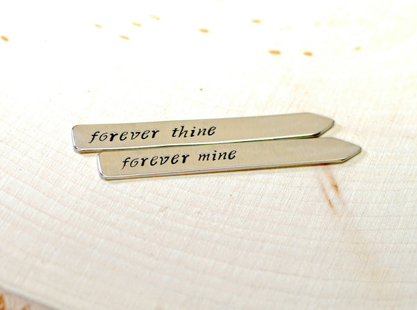 Sterling silver forever mine collar stays