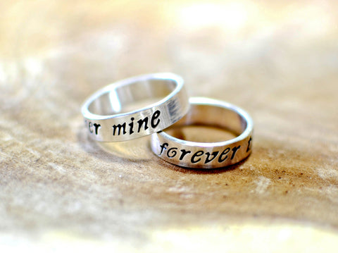 Sterling silver forever mine ring set, NiciArt