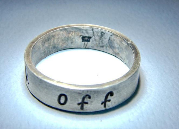 Sterling silver fuck off ring in original design