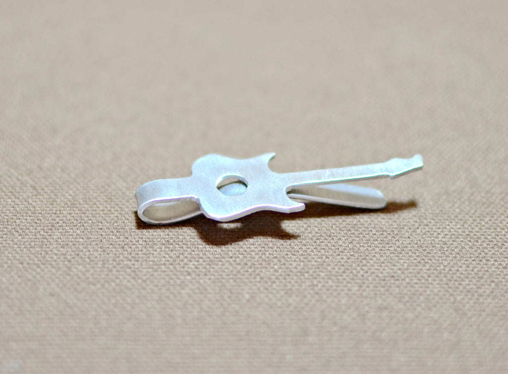 Personalized Guitar Shaped Tie Bar Niciart