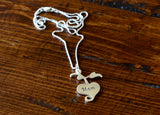 Apple Heart Sterling Silver Necklace for Mom, NiciArt