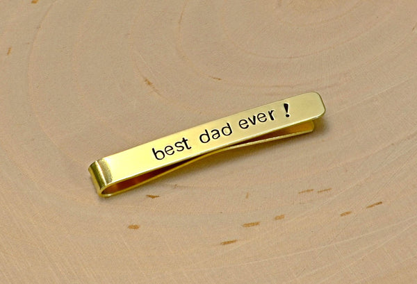 14K gold tie bar for you to personalize, NiciArt