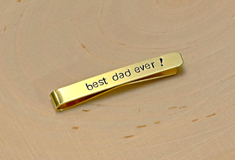 14K gold tie bar for you to personalize