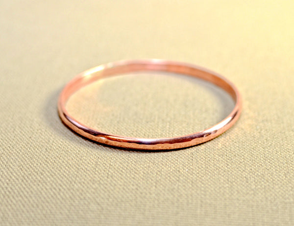Copper bangle with hammered elegance, NiciArt
