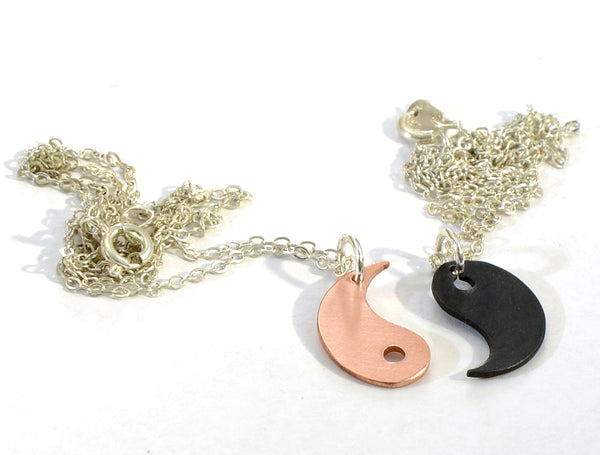 Dainty Yin Yang Two Piece Copper Necklace