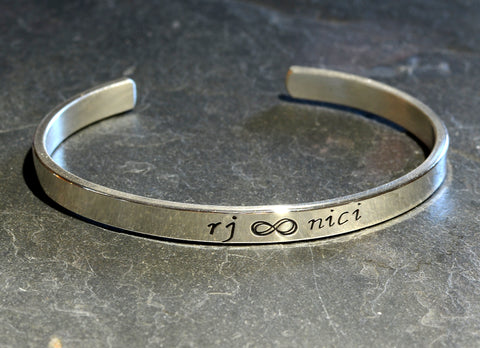 Infinity Bracelet in Sterling Silver to Celebrate Everlasting Love, NiciArt