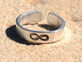 Infinity Sterling Silver Toe Ring, NiciArt