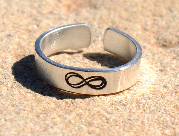 Infinity Sterling Silver Toe Ring