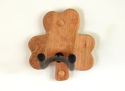 Shamrock Cherry Wood Guitar Wall Hanger, NiciArt
