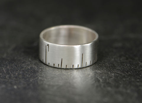 Sterling Silver Ruler Ring, NiciArt