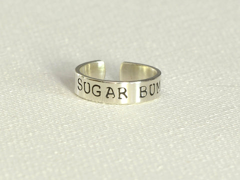 Sugar Bum Sterling Silver Toe Ring, NiciArt