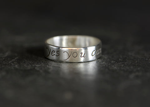 Yes You Can Inspiration Ring in Sterling Silver, NiciArt
