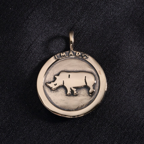 Black Rhino Necklace