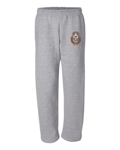 "Adult Open Bottom Sweatpants ""Crest"" Logo"