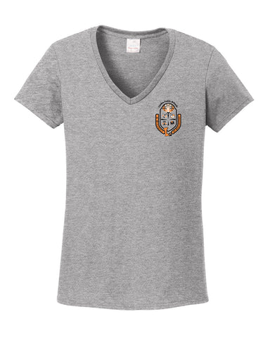 "Women's V-neck ""Crest"" Logo T-Shirt"