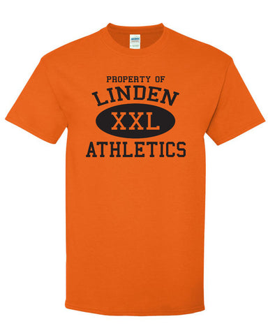 "Adult Short Sleeve ""Property of Linden"" Logo T-Shirt"
