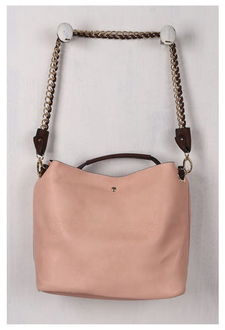 Chain Strap Wide Tote Bag