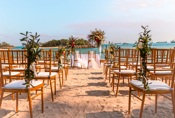 Beach Wedding Floral Arch