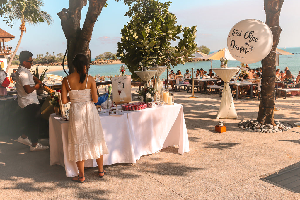 Beach Wedding Reception Desk
