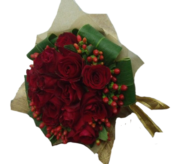 HB007 – Red Rose with Berry