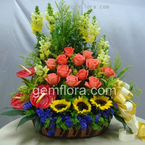Flower Basket 10