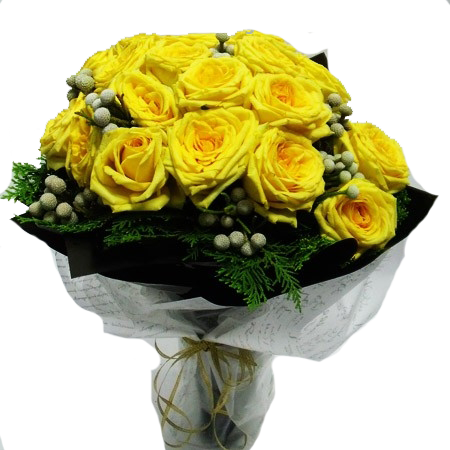 HB005 – Yellow Rose and Silver Brunia