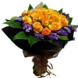 HB011 – Golden Roses with Purple Statics