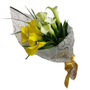 HB037 – Yellow and White Calla Lily