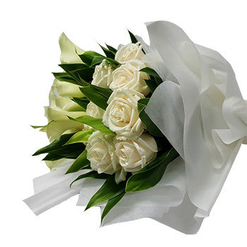 HB057 – White Rose and Calla Lily