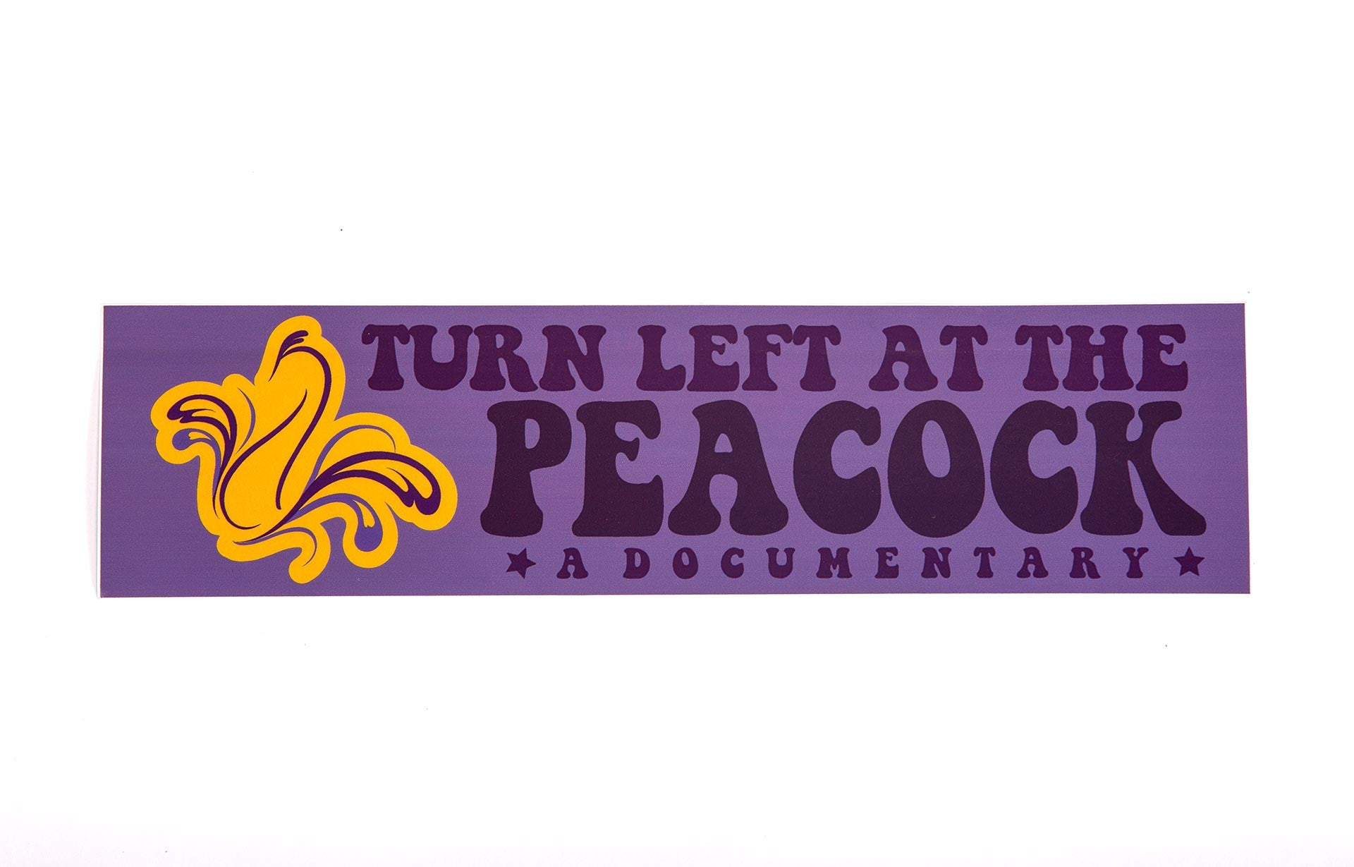 Turn Left at the Peacock Bumper Sticker