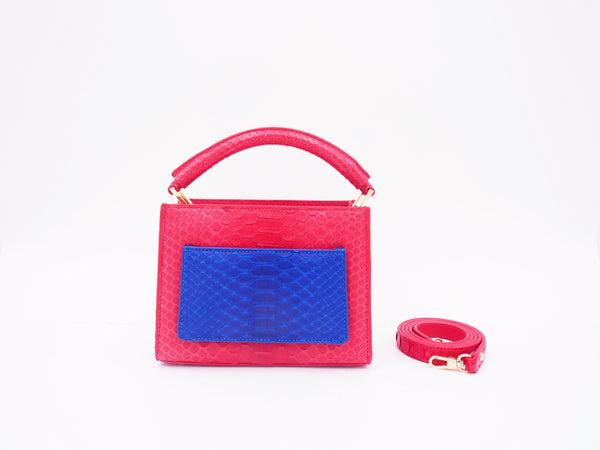 COCO MINI - RED/COBALT BLUE