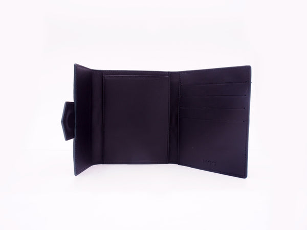 PASSPORT WALLET - BLACK/GREEN