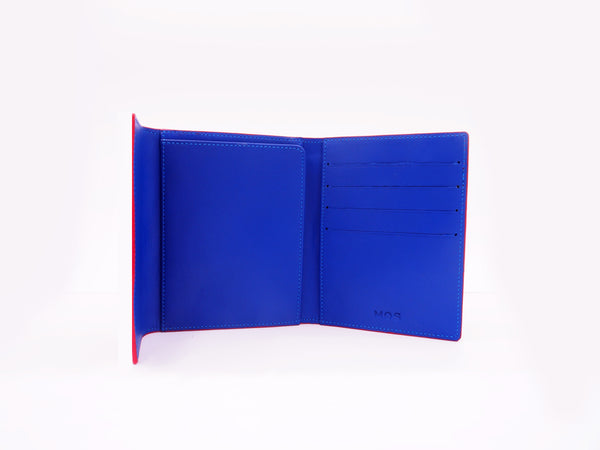 PASSPORT WALLET - COBALT BLUE/MUSTARD