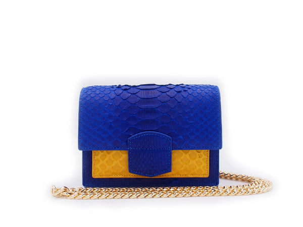 KATE MINI - BLUE/MUSTARD