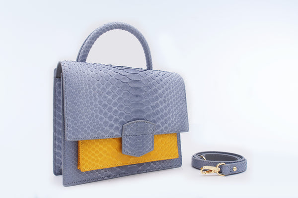 KATE - LIGHT GREY/MUSTARD
