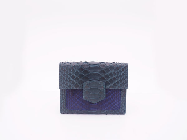 PASSPORT WALLET - GREEN/NAVY