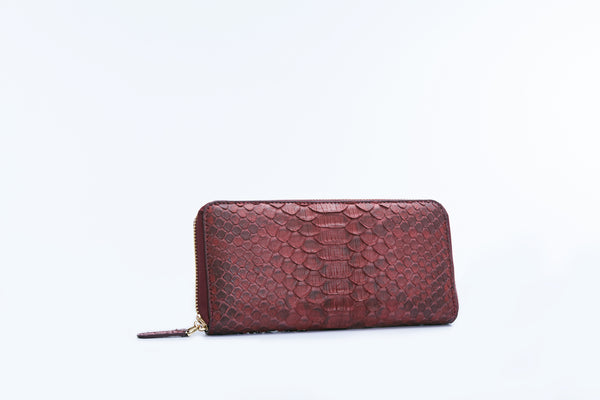 ZIPPED WALLET - BURGUNDY