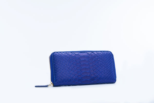 ZIPPED WALLET - COBALT BLUE