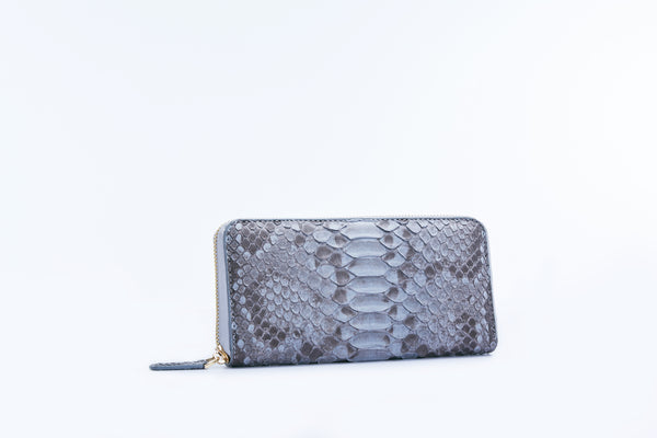 ZIPPED WALLET - GREY