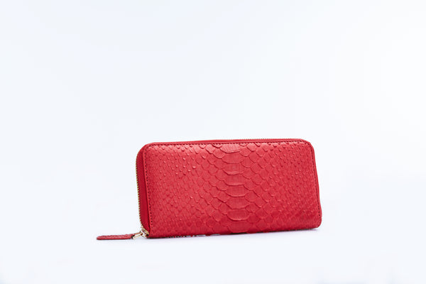 ZIPPED WALLET - RED
