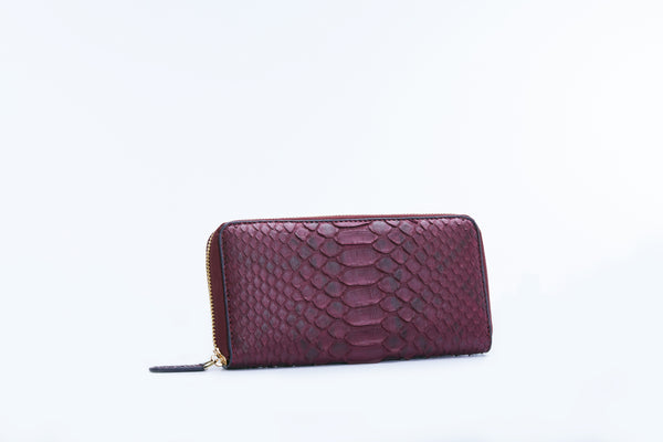 ZIPPED WALLET - WINE